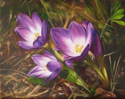 Картина «Первые цветы»