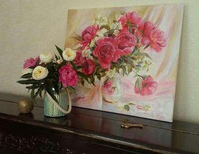 Картина «Розовые пионы»2
