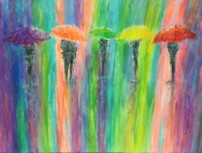 Картина «Под ярким дождем»