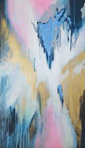 Картина абстракция Киев «Погружаясь в наши мечты» в современном интерьере
