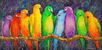 Картина «Попугаи»