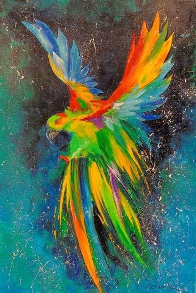Картина «Попугай в полете»