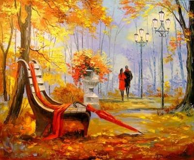Картина маслом «После дождя» - живопись для современных интерьеров Украина
