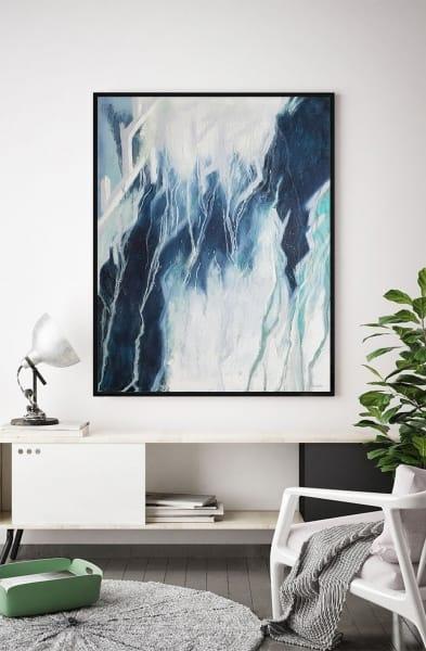 Картина абстракция маслом «Любовь: сила резонанса» в интерьере