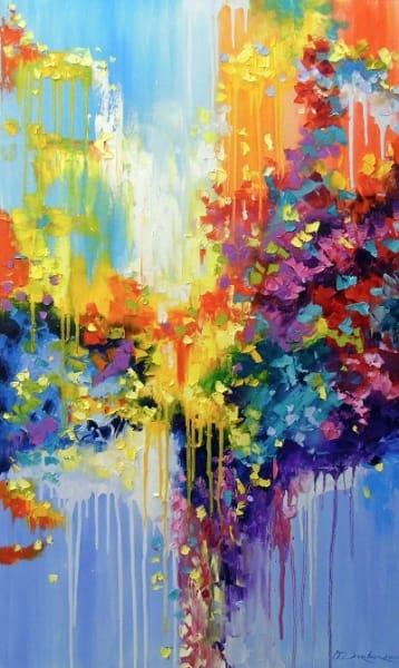 Абстрактная картина «Позитивное мышление» купить живопись для современных интерьеров Украина