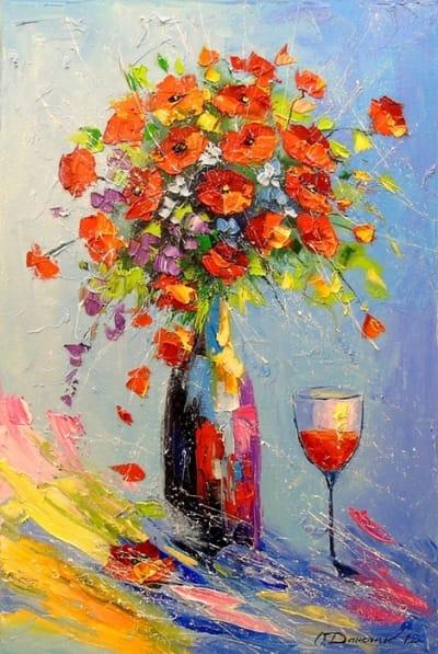 Картина маслом «Праздник» - живопись для современных интерьеров Украина