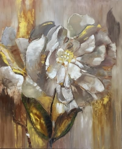 Картина маслом цветы «Прекрасный цветок» - современная живопись Украина
