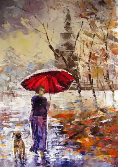 Картина «Прогулка на Владимирской горке»