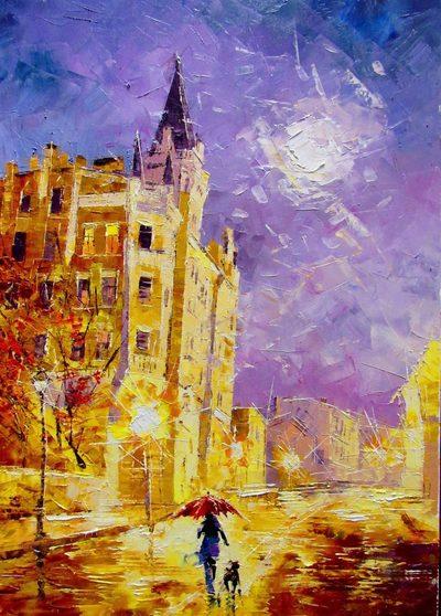 Картина «Прогулка по Андреевскому»