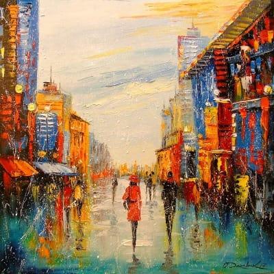 Картина «Прогулка в городе»