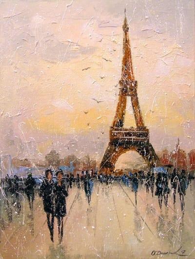 Картина «Прогулка в Париже»