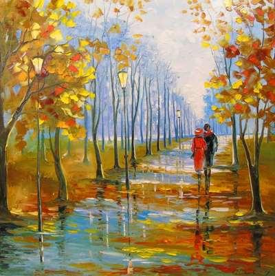 Картина «Прогулка в парке»