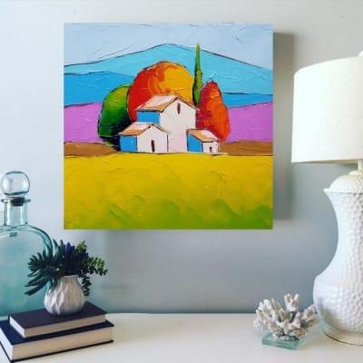 Картина маслом летний пейзаж «Прованс. Солнечный день» купить живопись для современных интерьеров Киев