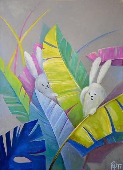 Картина для детской комнаты «Прятки» купить картину маслом Киев