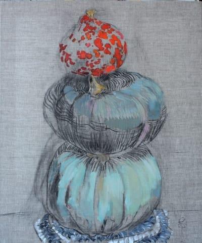 Картина акрил «Тыквы» купить живопись для современных интерьеров Украина