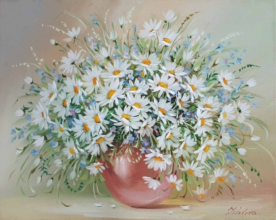 Картина «Ромашки - нежность в каждом лепестке»