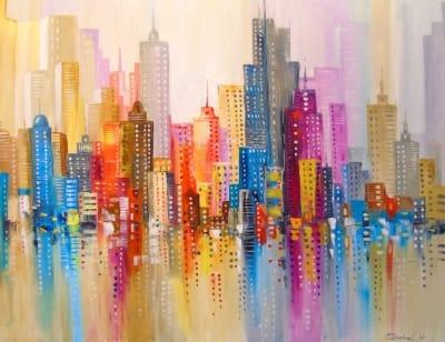 Картина «Радужный город»