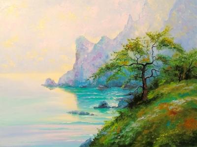 Картина «Рассвет на берегу моря»