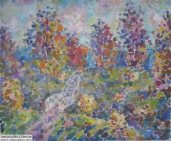 Картина «Осенний пейзаж с мостиком»