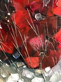 Картина маслом цветы «Красные цветы» купить живопись Украина