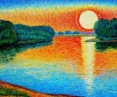 Картина «Рыжий восход»