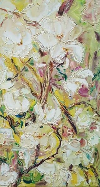 Абстрактная картина цветы «Весна. Цветение» - купить живопись для современных интерьеров Киев