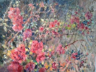 Картина «Розы в ботаническом саду»