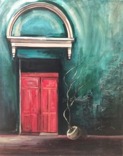 Картина «Розовая дверь»
