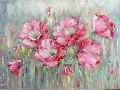 Картина «Розовые маки»