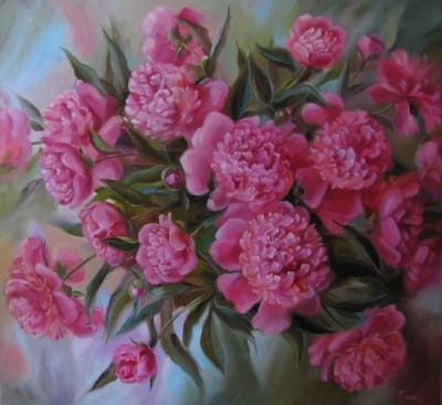 Картина «Розовые пионы» 3