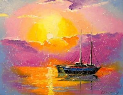 Картина «Розовый закат»