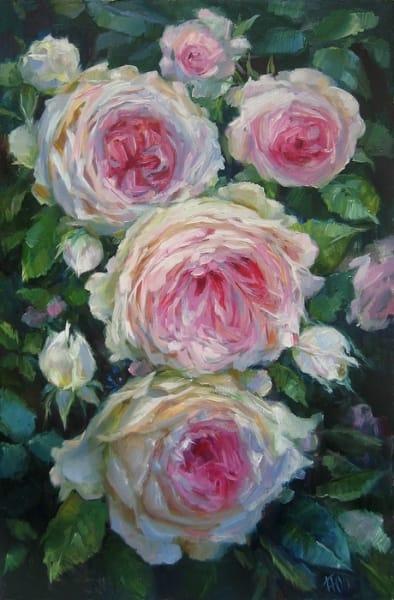 Картина цветы «Розы» купить живопись для современных интерьеров Украина