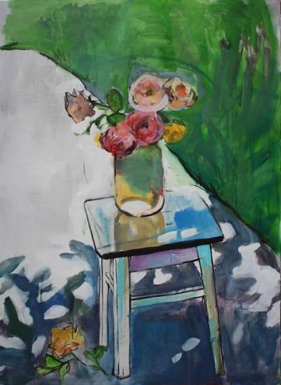 Картина для современных интерьеров цветы «Розы» купить живопись Украина