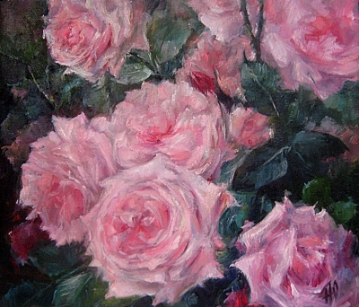 Картина с цветами «Розы» купить живопись для современных интерьеров Киев