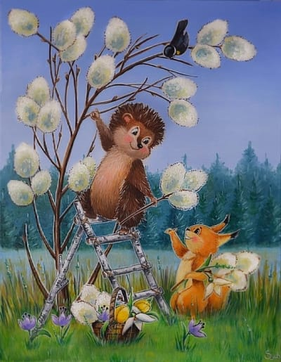 Картина для детской комнаты «С 8 марта!» купить картину маслом Киев