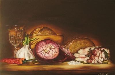 Картина «Натюрморт с салом»
