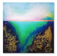 Абстрактные картины для современных интерьеров «Из глубины» купить живопись Киев