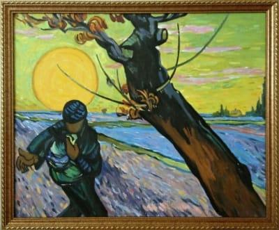 Картина «Сеятель», копия картины Ван Гога
