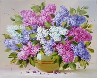 Картина «Сирень. Нежный аромат весны»