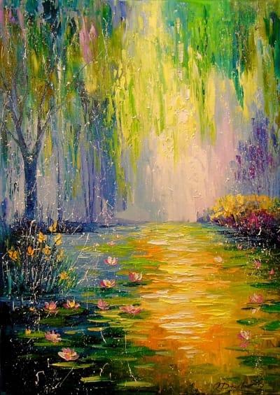 Картина «Сказочный пруд»