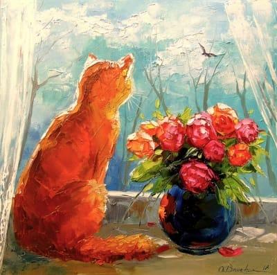 Картина маслом «Скоро весна» - современная живопись Украина