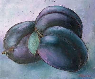 Картина «Лиловый натюрморт со сливами»