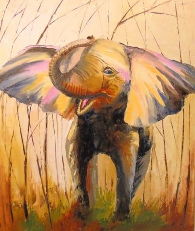 Картина «Слон» 4