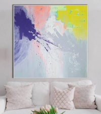 Абстрактная картина маслом «Смесь моих желаний» в современном интерьере 2
