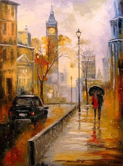 Картина «Снег в Лондоне»