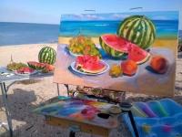 Картина «Сочный отдых» - картины для современных интерьеров Украина - живопись натюрморт