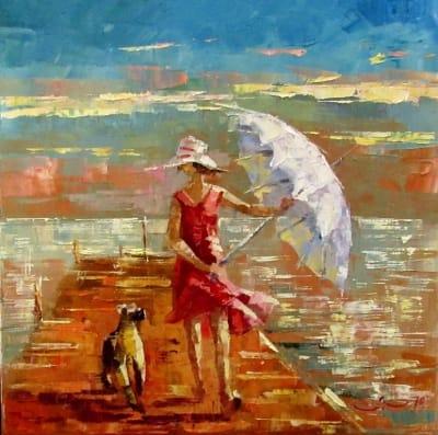 Картина маслом «Солнечный день» - живопись для современных интерьеров Украина