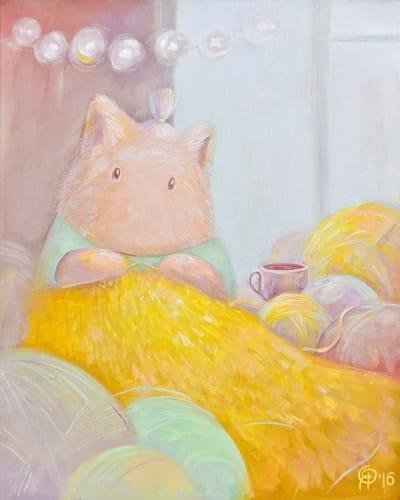 Картина для детской комнаты «Солнечный плед» купить картину маслом Киев