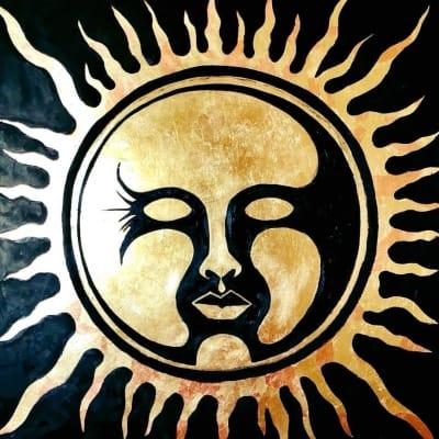 Картина маслом «Солнце» купить живопись для современных интерьеров Киев