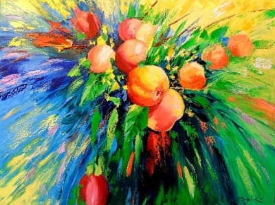 Картина «Спелые яблоки»